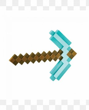 Minecraft - Minecraft Pickaxe Video Game Toy Foam Weapon PNG