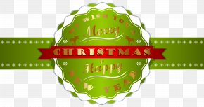 Merry Christmas And Happy New Year Label PNG Clipart Image - Christmas New Year's Day Clip Art PNG