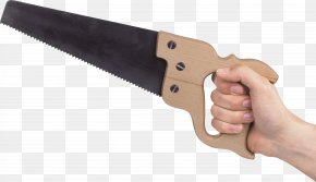 Holding The Saw Blade - Hand Saw Blade Tool PNG