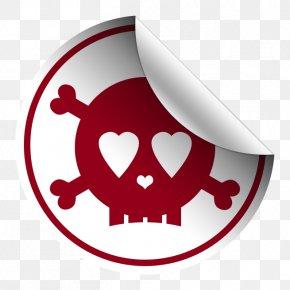 Skull Sticker - Sticker Clip Art PNG