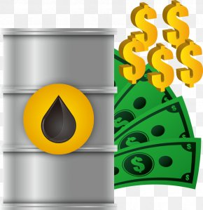 Vector Oil Barrel And Banknotes - Petroleum Big Oil PNG
