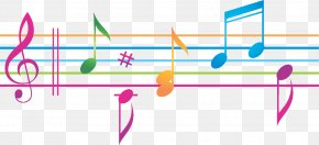 Musical Notes Colorful - Vector Graphics Musical Note Sheet Music Illustration PNG
