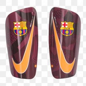 Fc Barcelona - FC Barcelona Nike+ Shin Guard Kit Football PNG