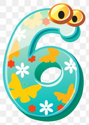 Cute Number Six Clipart Image - Text Circle Clip Art PNG