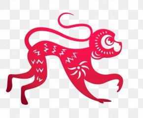 Chinese New Year - Chinese New Year Papercutting Monkey Chinese Paper Cutting PNG