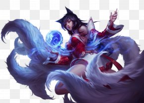 League Of Legends - League Of Legends Ahri Cosplay Wig Nine-tailed Fox PNG