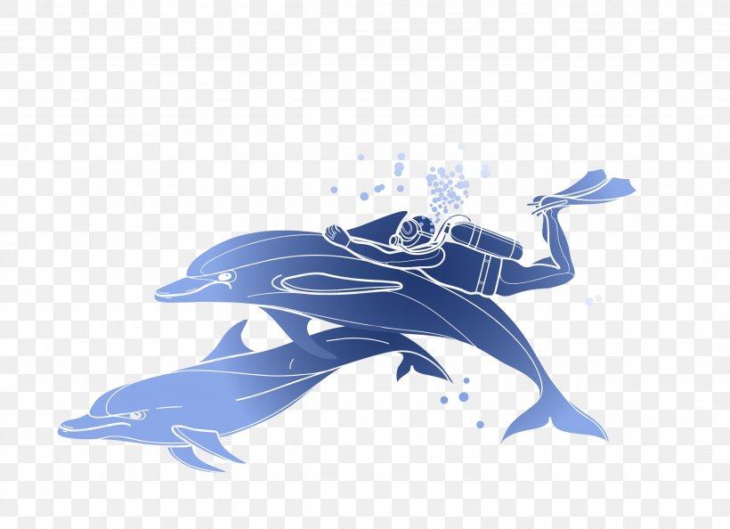 Scuba Diving Snorkeling Illustration, PNG, 2662x1930px, Scuba Diving, Automotive Design, Blue, Brand, Cobalt Blue Download Free