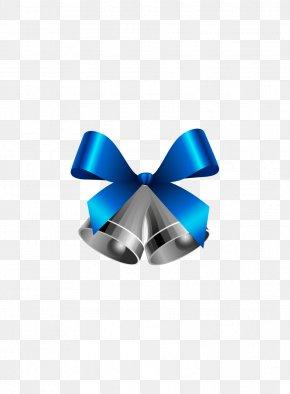 Blue Christmas Bell - Ribbon Christmas Bell PNG