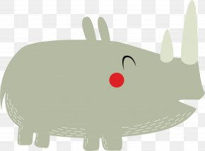 Lovely Rhino Vector - Rhinoceros 3D Rabbit PNG