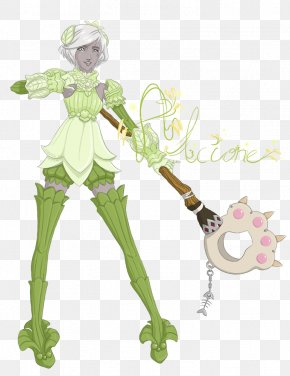 Plate Set - Costume Design Cartoon Green Flowering Plant PNG