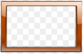 Orange Frames Cliparts - Picture Frames Wood Grain Framing Clip Art PNG