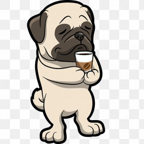 Puppy - Pug Puppy Dog Breed Cocktail Clip Art PNG
