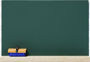Real Clean Green Blackboard And Eraser - Rectangle PNG