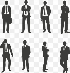 Suit Characters Vector - Businessperson Silhouette PNG