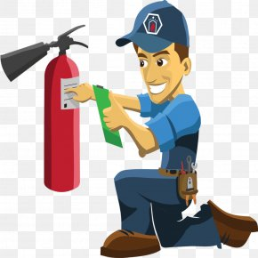 Character Black And White - Fire Extinguishers Fire Sprinkler System Fire Alarm System Fire Safety Clip Art PNG
