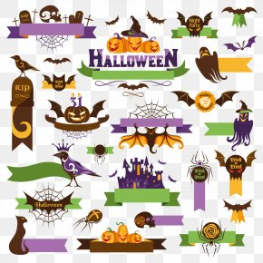 Halloween Vector Elements - Halloween Euclidean Vector Clip Art PNG