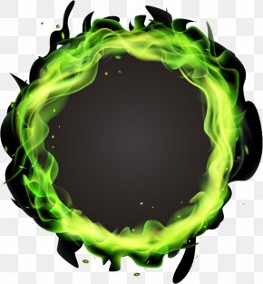 Ring Light Effect - Light Green Flame PNG