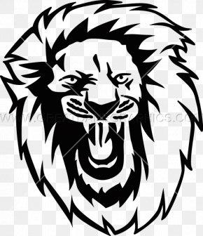 Lion Head - Lion Roar Printed T-shirt Clip Art PNG