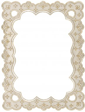 Pretty Borders - Paper Framing Lace Picture Frames Molding PNG