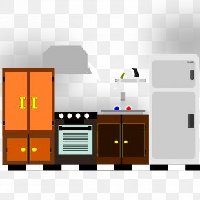 Kitchen House Cliparts - Pantry Kitchen Cabinet Clip Art PNG
