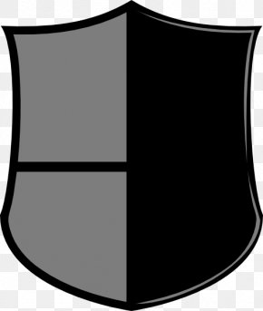 Black Shield - Black And White Monochrome Photography Angle PNG