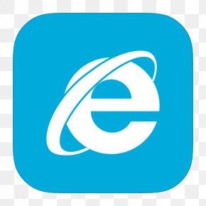 MetroUI Browser Internet Explorer Alt - Blue Trademark Area Text PNG