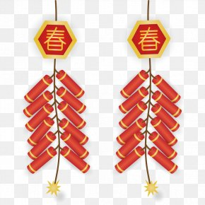 Chinese New Year Festive Firecrackers - Firecracker Chinese New Year PNG