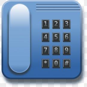 Blue Phone - Telephone Mobile Phone Landline Clip Art PNG