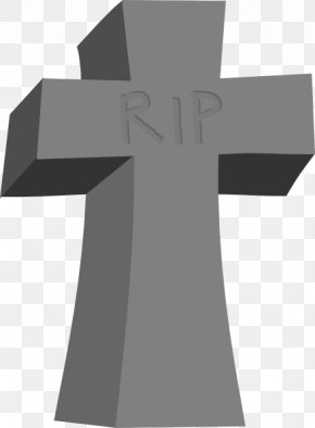 Rip Cliparts - Christian Cross Headstone Death Clip Art PNG