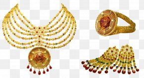 Gold Chain - Earring Jewellery Gold Necklace Kundan PNG