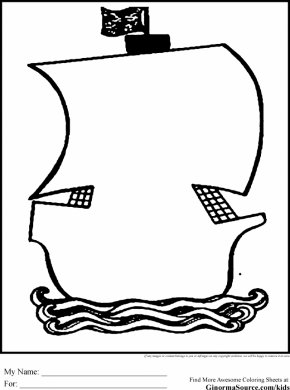 Ship Outline - Ship Coloring Book Drawing Clip Art PNG