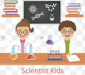 Vector Hand-painted Young Scientists - Laboratory Euclidean Vector Scientist Test Tube Science PNG