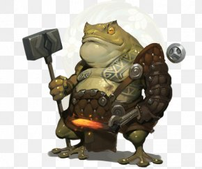 Toad Hammer Warrior - Dungeons & Dragons Pathfinder Roleplaying Game D20 System Bullywug Monster Manual PNG