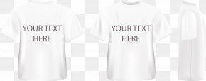 Fashion T-shirt Design Vector Material - T-shirt White Sleeve Logo PNG
