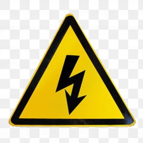 FIG Triangle - Warning Label Sticker High Voltage PNG
