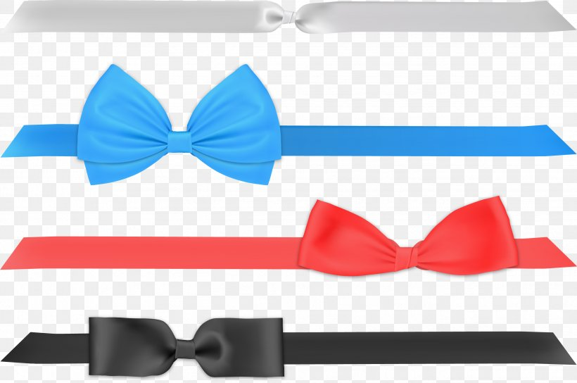 Bow Tie Ribbon Vector, PNG, 2643x1755px, Bow Tie, Blue, Designer, Fashion Accessory, Freeware Download Free