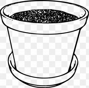 White Pot Cliparts - Flowerpot White Black Clip Art PNG