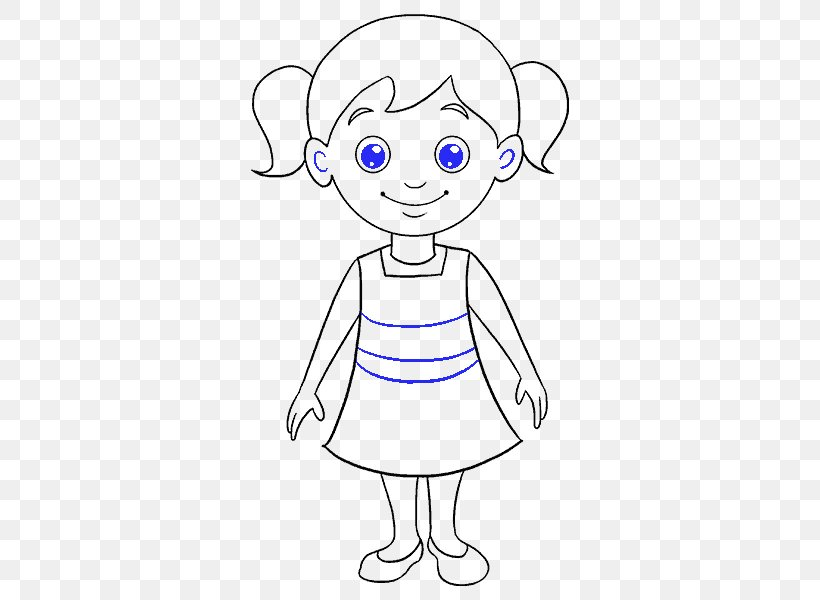 Drawing For Girls Cartoon Sketch Png 678x600px Watercolor