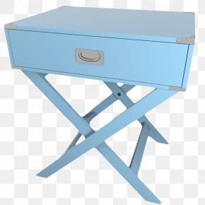 Light Blue European Bedside Table - Nightstand Table Blue PNG