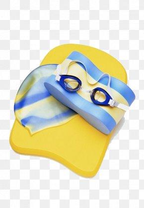 Striped Swimming Equipment - Swimming Swim Cap Swedish Goggles PNG