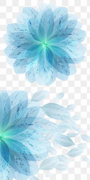 Blue Flowers Vector Material Symphony - Blue Flower Euclidean Vector PNG