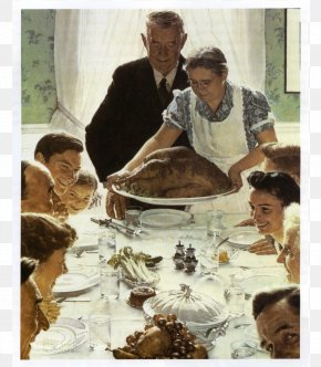 Painting - Freedom From Want Norman Rockwell Paintings Thanksgiving Art PNG
