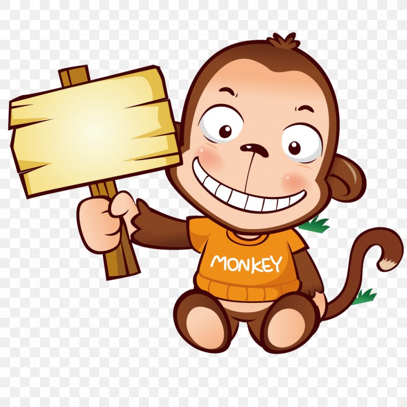 Monkey, PNG, 1000x1000px, Monkey, Android, Cartoon, Child, Data Download Free