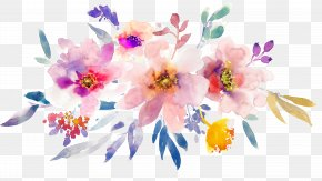 Hand-painted Watercolor Spring Flowers - Watercolor: Flowers Paper Watercolor Painting PNG