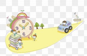 Pink Clock - Child Learning Kindergarten Winter Vacation Education PNG