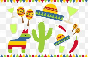 Vector Children Learn Painting - Cinco De Mayo Clip Art PNG