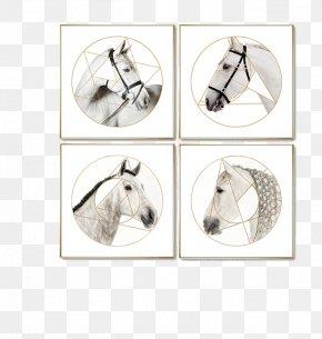 Postmodern Horse Geometry Paintings - Painting Geometry Living Room Wall Geometric Shape PNG