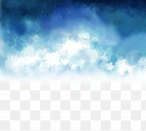 Vector Creative Hand-painted Blue And White - Euclidean Vector Download PNG