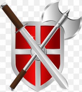Axe Logo - Shield Sword Clip Art PNG