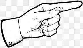 Pointer Finger Cliparts - Index Finger Pointing Middle Finger Clip Art PNG